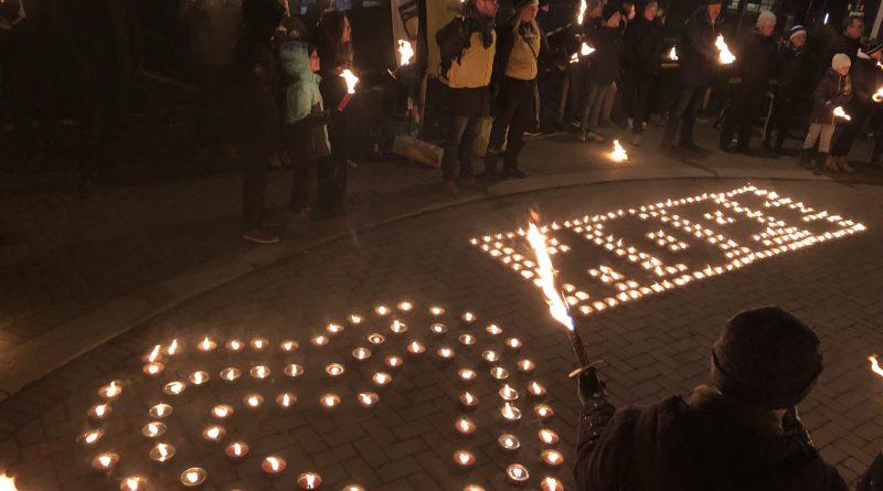 Ljusmanifestation i Lund