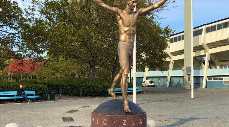 Zlatan-statyn dagen efter avtäckningen