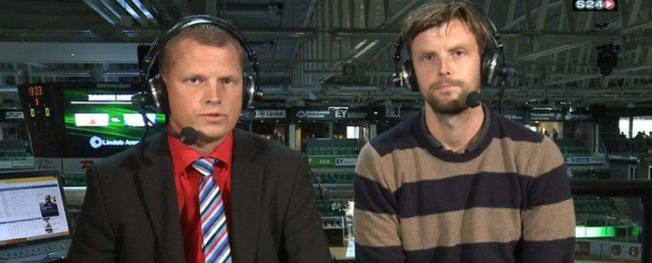 Micke Dahl och Jakob Johansson i samband med en S24 sänding